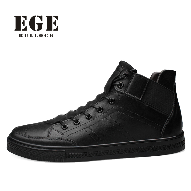 EGE Brand New Arrival Handmade Men Ankle Boots Genuine Leather Spring Causal Male Shoes #12130