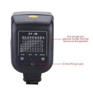 Image 4 - Yinyan CY 20 Giày Nóng Đồng Bộ Cổng 5600K Mini Đa Năng Đèn Flash Cho Máy Ảnh Nikon Canon Olympus Pentax Sony Alpha Máy Ảnh