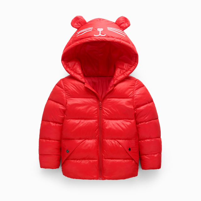 5fe313220 Children s winter jackets down jacket for girl autumn Warm hooded ...