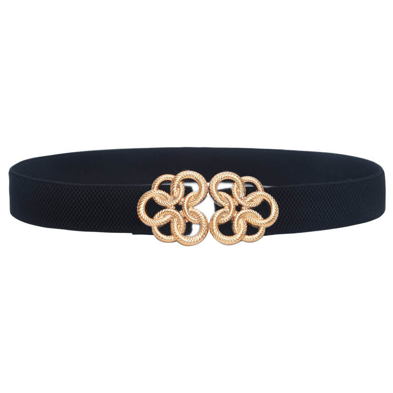 Gold buckle   belts   elastic thin high waist   belt   women fashion 2019 High Quality Slim Ladies   Belt   For Dresses Female Stretch Cinch
