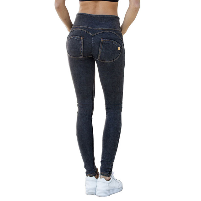 info for 47b43 fedde US $24.99 |Di alta Qualità Pantaloni Donne Freddy Pantaloni Sexy Hip Push  Up Leggings A Vita Alta Bodybuilding Pantaloni Scarni Freddy Jeans J17326  in ...