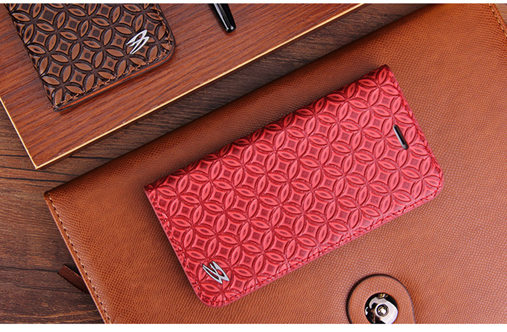 Luxury Cowhide Full cover case For iphone X 6 6s 7 8 First layer cowhide Copper money card holder For iphone 6 7 8 plus bag case (5)