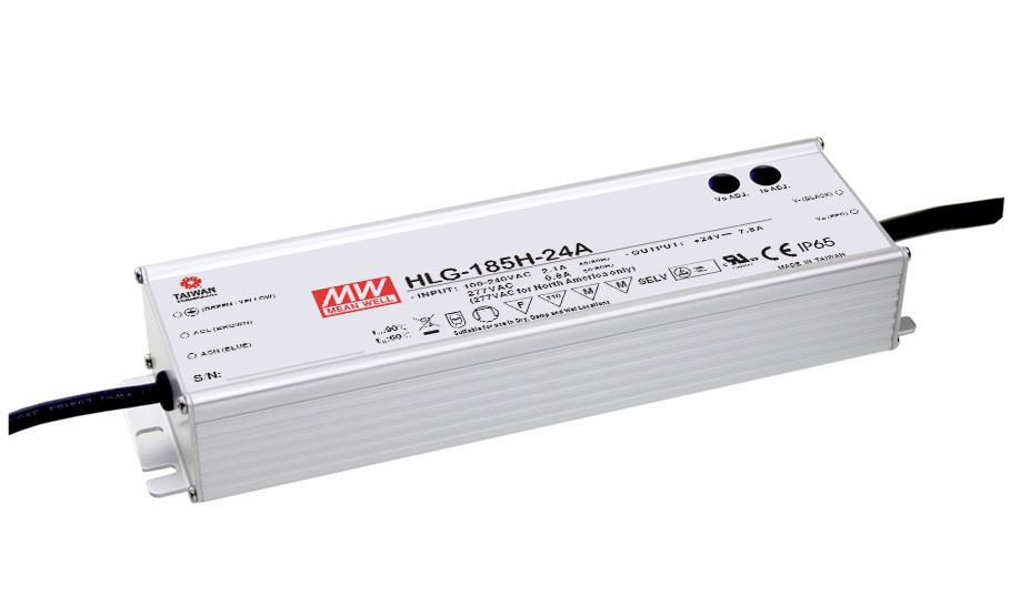цена на MEAN WELL original HLG-185H-24A 24V 7.8A meanwell HLG-185H 24V 187.2W Single Output LED Driver Power Supply A type