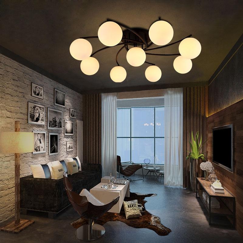 T Amerikanischen Stil Luxus Deckenleuchte Für Schlafzimmer Wohnzimmer  Moderne Einfache Glas Lampe Schornstein Eisen Licht Besten Preis In T  Amerikanischen ...