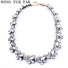 22017 Fashion Brand Choker Necklace Luxury Vintage Crystal Flower Statement Necklace Jewelry For Women Factory Wholesale