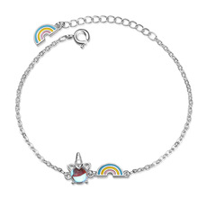 Colorful Unicorn Rainbow Bracelet Net Red Niche Design Student Jewelry