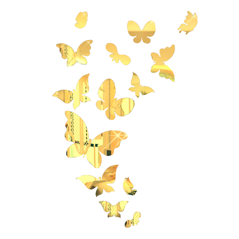 Fantastic Mirror Butterfly Wall Decor Pattern - Art & Wall Decor ...