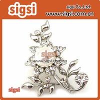 Manufacturer wholesale rhinestone brooch for wedding decoration