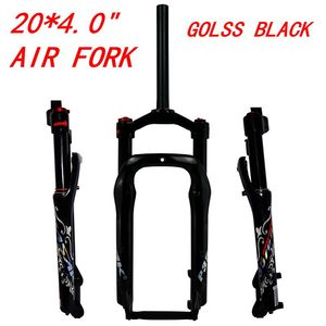 """Image 3 - MTB Cruiser Fork Moutain Bicycle 20 inch Fat Bike Air Fork Lockout Suspension Forks Aluminium Alloy For 20x4.0""""Tire 135mm"""