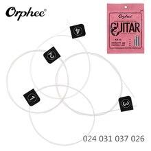 4pcs/set! Orphee Ukulele Strings Set 024 031 037 026 White Nylon Carbon Fiber String Ukulele Accessories with Great Tone
