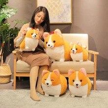 Cute Short Leg Corgi Dog Doll Soft Plush Toys Stuffed Animal Toy Children Valentines Day Gift