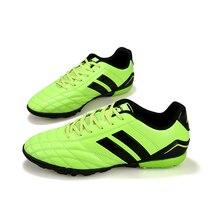 2019 Для мужчин Спортивная обувь для улицы газоне Обувь для футбола из искусственной кожи Водонепроницаемый тренировочные туфли Zapato Футбол человек низкий верхний мягкий Футбол