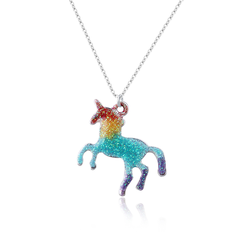 Dayoff Woman Handmade Colorful Enamel Unicorn Pendant Necklaces Womens Jewelry Metal Animal Necklace Collar Chains Gift N517 To Have A Long Historical Standing
