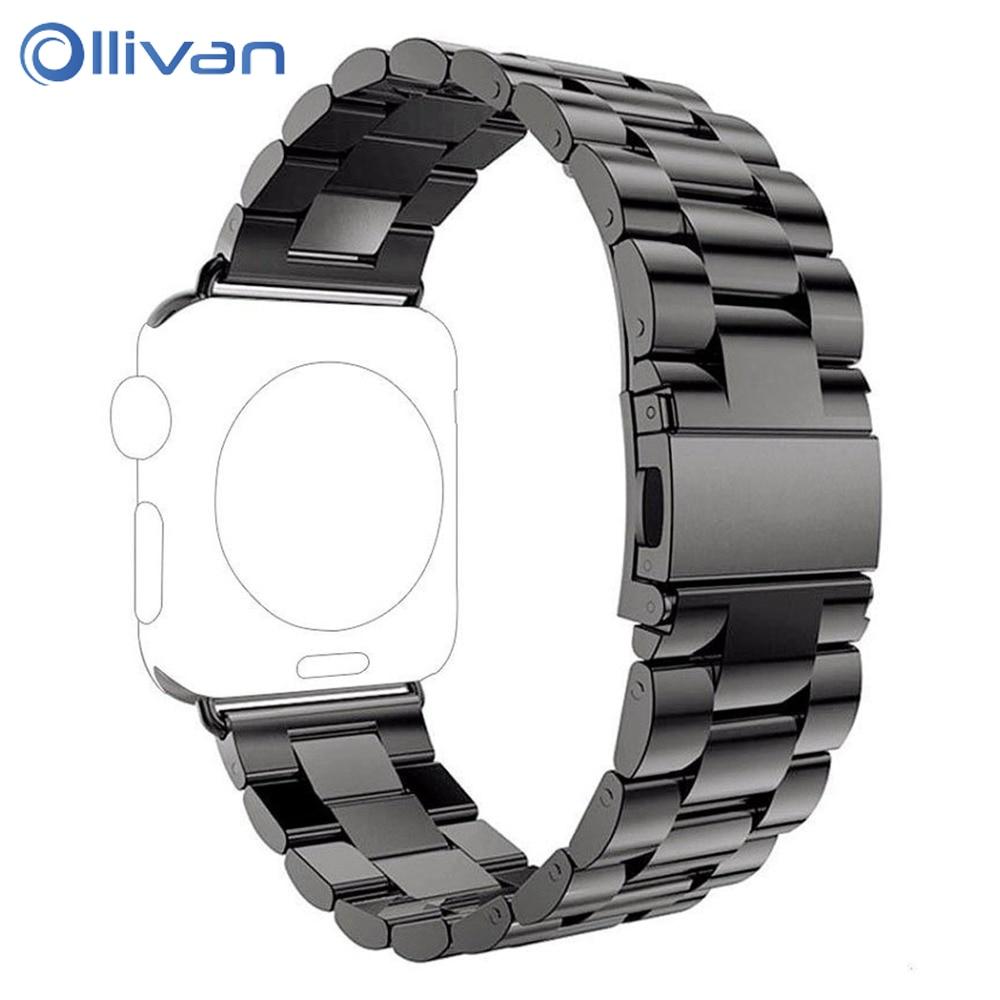 OLLIVAN Smart Bracelet Watch Strap For Apple Watch Band 38MM 42MM Stainless Steel Bracelet Buckle Strap Clip Adapter For iWatch