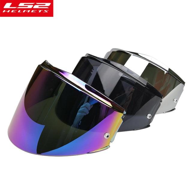 Original Ls2 Valiant Helmet Visor Iridium Chrome Silver Lens Shield
