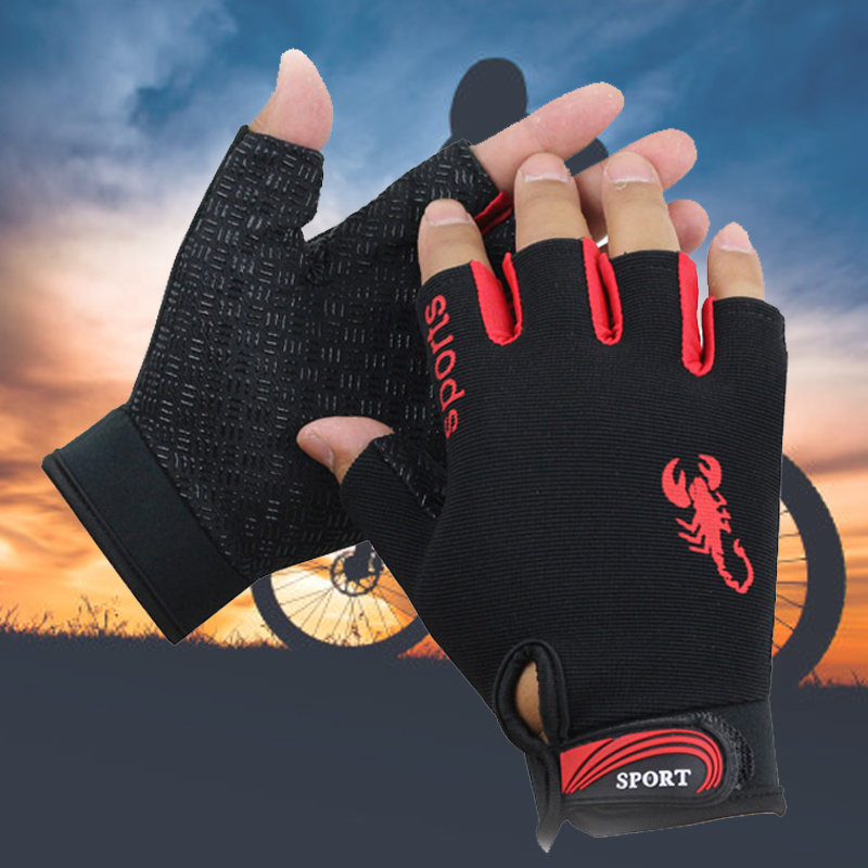 Fashion Half Finger Gloves Driving Sport Cycling Fishing Gloves Non-slip Breathable Fingerless Gloves For Men Women Luva