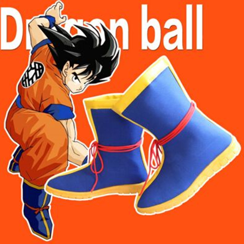 Anime Nuovo Caldo Dragon Ball Son Goku Cosplay Scarpe Halloween Stivali partito de futbol con tobillera chaussure de piede haute cheville
