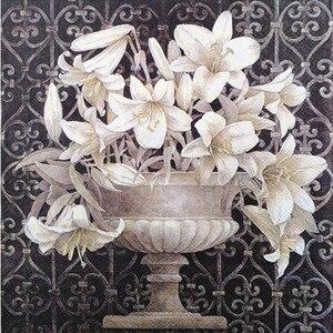 Image 1 - 20 Vintage table Napkin paper decoupage wedding christmas birthday party  flower white balck serviettes  decorative tissue