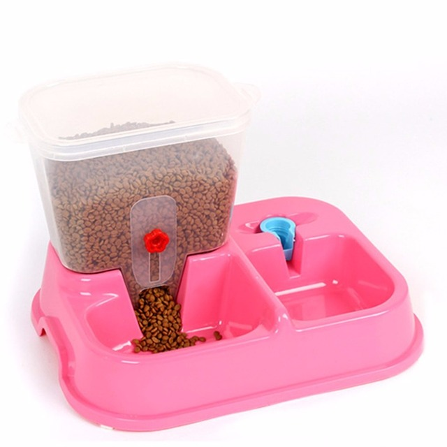 Environmental Plastic Dog Food Bowl Pets Water Dispenser Large Adjustable Automatic Pet Drinking for Dogs Water Feeder New