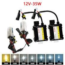Tonewan Новый Xenon HID Conversion Kit 12 В 35 Вт H1 H3 H7 лампы тонкий балласта фары автомобиля лампа 4300 К 6000 К 8000 К 30000 К