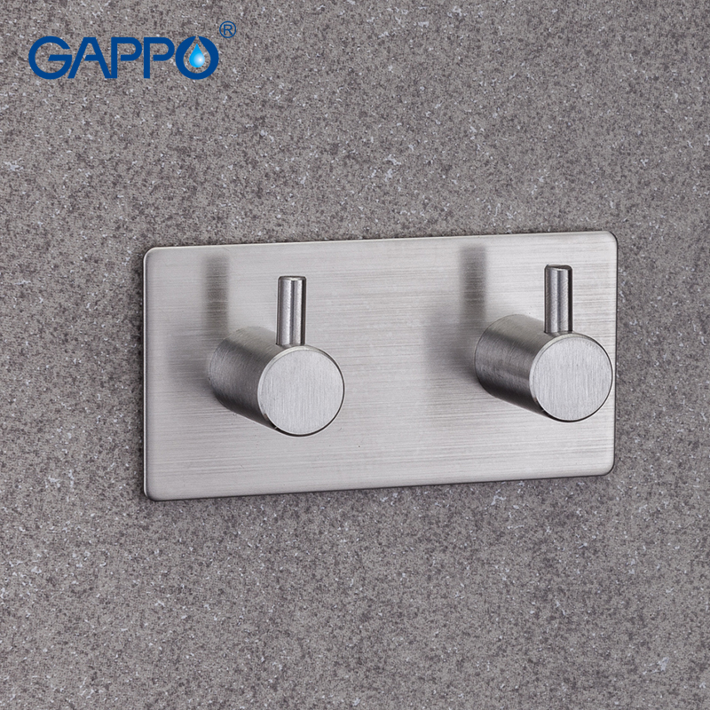 GAPPO Robe Hooks 2 Clothes Hook Stainless Steel Hooks Wall Mount Bathroom Towel Hanger Tower Hooks