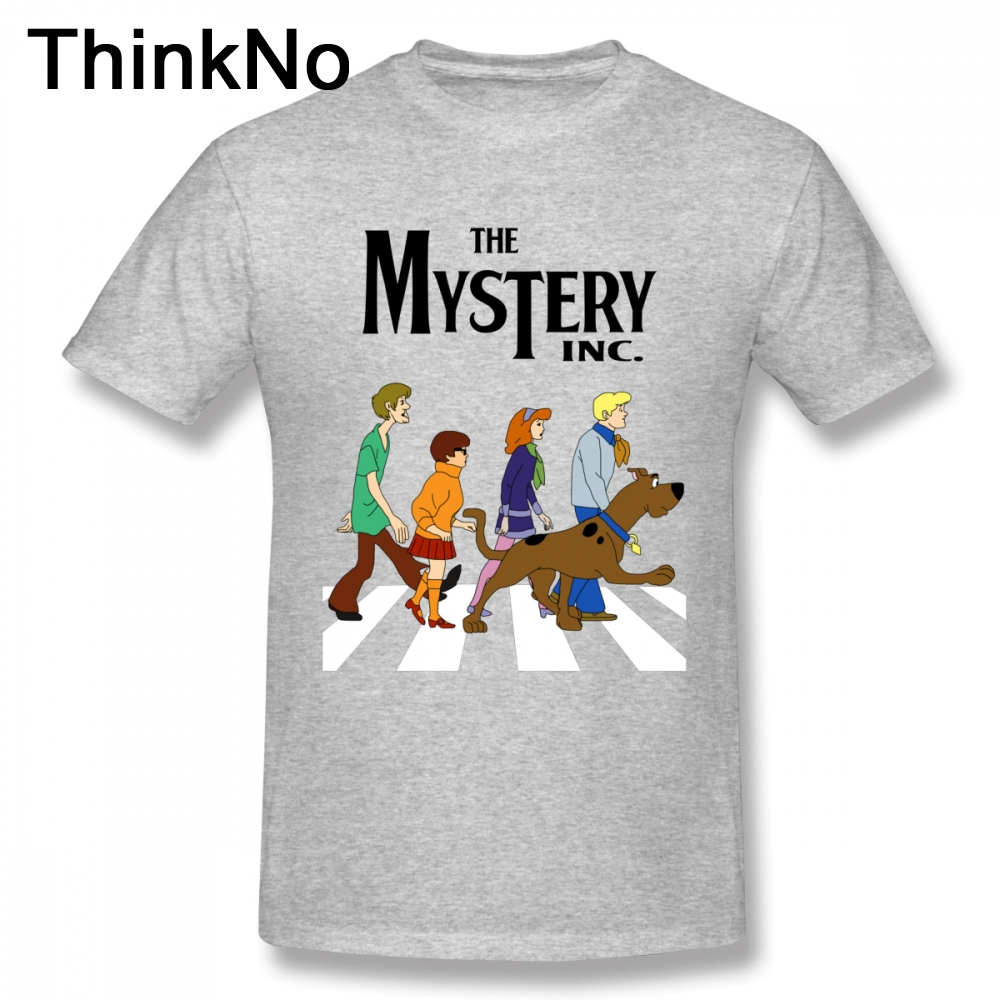 For Men Tees Scooby Doo Abbey Road T Shirt Pure Cotton T-Shirt Plus Size Hot Sale New Arrival Short-sleeved