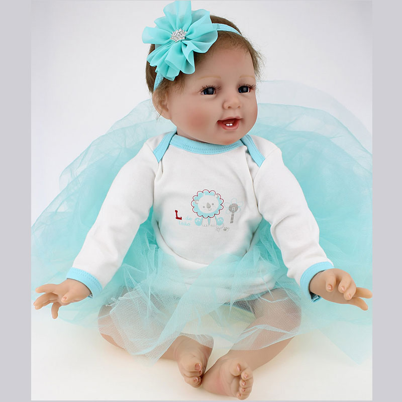 55CM Silicone Reborn Babies Realistic Doll kids Playmate Gift For Girls Baby Alive Soft Toys For Bouquets Juguetes Kids Gift 18 inch vinyl reborn doll kids playmate gift for girls 45 cm baby alive soft toys for children lifelike reborn babies dolls