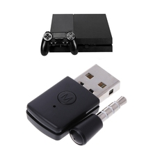 New Black USB Bluetooth Dongle Wireless Headphone MIC Adapter For PS4 Controller Console 1 Set Plastic 5V USB Bluetooth Adapter