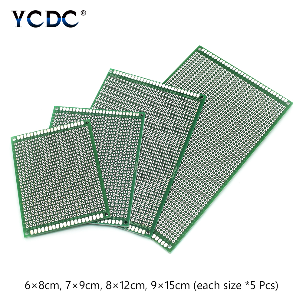 20x 2019 High Quality 4 Sizes Mix PCB Circuit Board For Arduino DIY Electronic Soldering Glass Fiber FR-4 PCB Prototype Board image