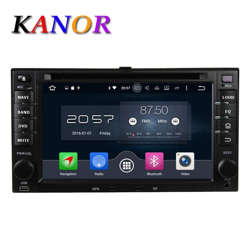 KANOR 8 Core Android 6.0 4G Lecteur DVD de Voiture Pour KIA Sportage Cerato Sportage Ceed Sorento Rio GPS SatNavi Multimédia WIFI USB