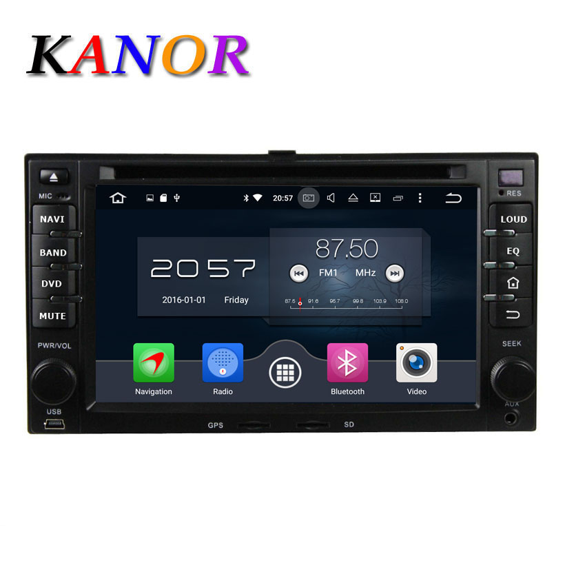 KANOR 8 Núcleo Android 6.0 4G DVD Player Do Carro Para KIA Sportage Cerato Sportage Ceed Sorento Rio GPS SatNavi Multimídia USB WIFI