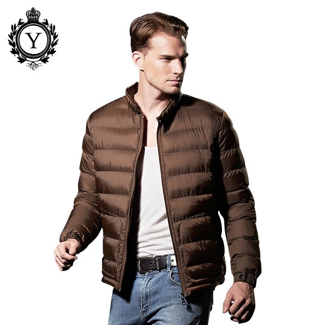 COUTUDI 2017 New Winter Jacket font b Men b font Casual Solid Color Ultralight Down Jackets