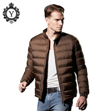 COUTUDI 2017 New Winter Jacket Men Casual Solid Color Ultralight Down Jackets Brands Men's Parkas Coats High Quality Overcoats