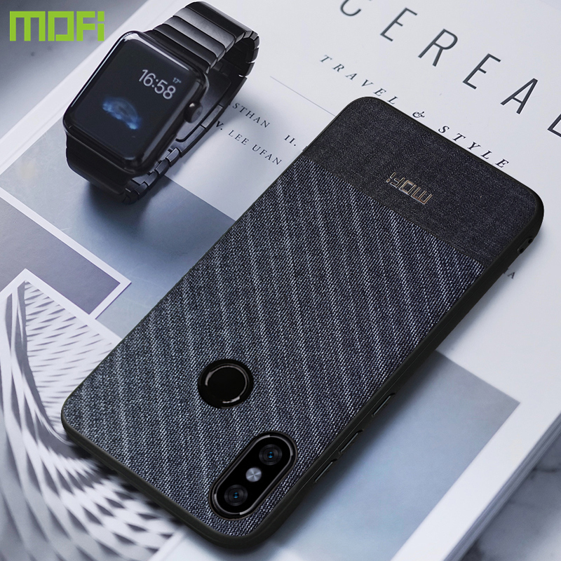 Redmi Hinweis 5 Fall Für Xiaomi Redmi Hinweis 5 Fall MOFi Tuch Stoffe Zurück Abdeckung Redmi Hinweis 5 Pro Fall globale version Business Dark