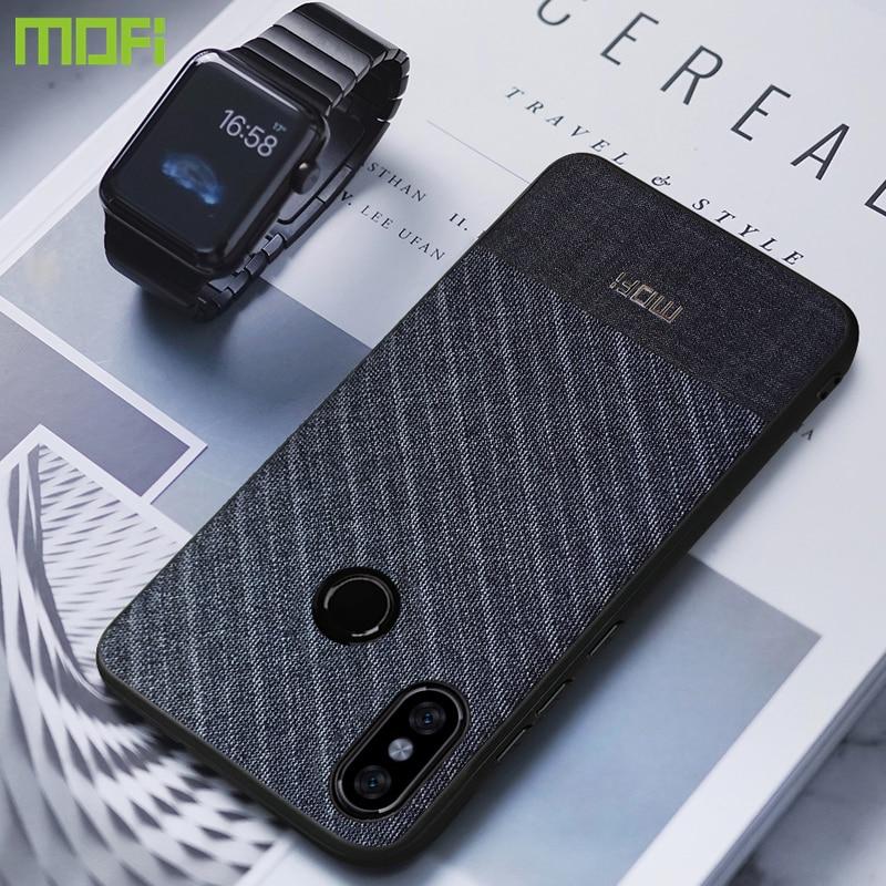 Redmi Note 5 caso para Xiaomi Redmi Note 5 caso MOFi tela tejidos cubierta Redmi Note 5 caso Pro versión Global de negocios oscuro