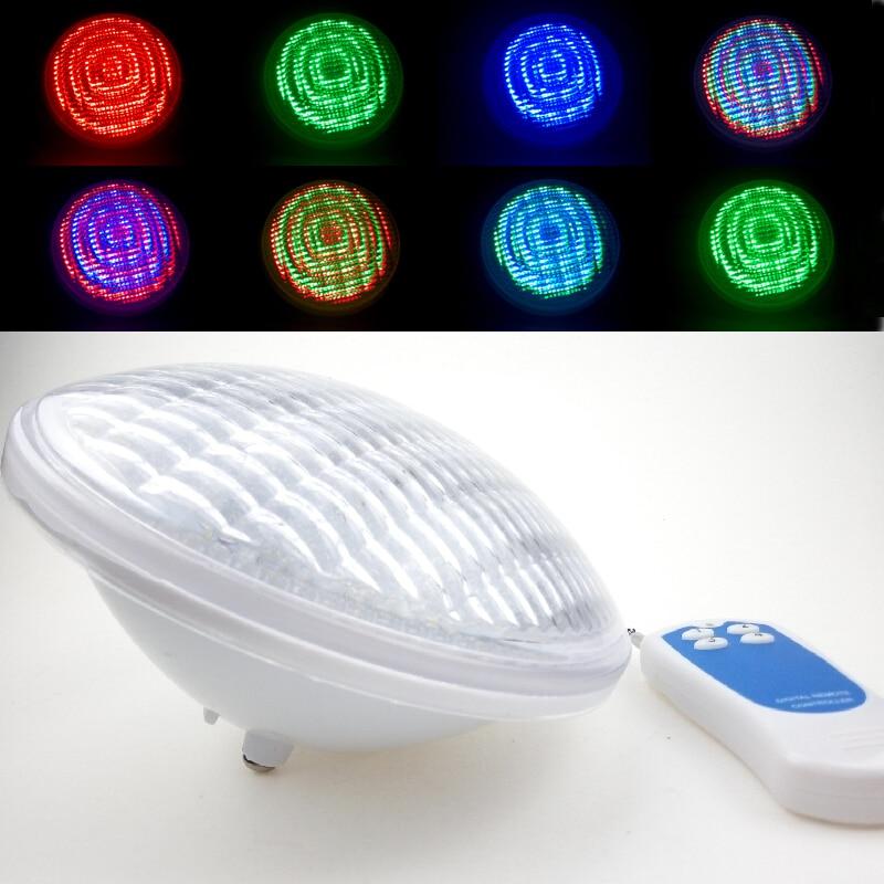/étanche IP68 avec Changement Multi t/él/écommande Couleur pour Piscine Effets d/éclairage 54W LED RVB Piscine Lumi/ère sous-Marine CCDYLQ PAR56 RGB LED sous-Marine Piscine Ampoules