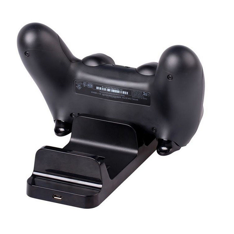 Image 2 - Dual USB Charging Charger Dock Stand Charging Station for Sony PS4 Joystick Controller for Playstation 4-in Chargers from Consumer Electronics