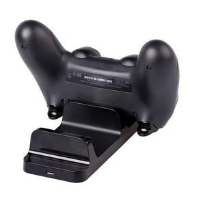 Image 2 - USB הכפול טעינת מטען Dock Stand תחנת טעינה עבור Sony PS4 ג ויסטיק בקר לפלייסטיישן 4