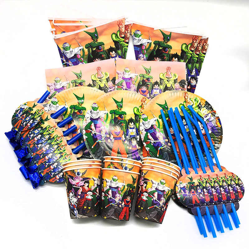 66 pçs/lote Esferas Do Dragão tema decorações da festa de aniversário Bola Dragão Dragão Bolas copos de chapas de guardanapos descartáveis partido set