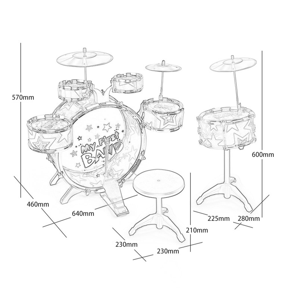 Children kids educational toy percussion instrument playing drum set aeproducttsubject ccuart Gallery