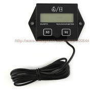 Waterproof Hour Meter Tachometer 2 4 Stroke Engine Spark For Boat Motorcycle Bike 12V CAR DHL