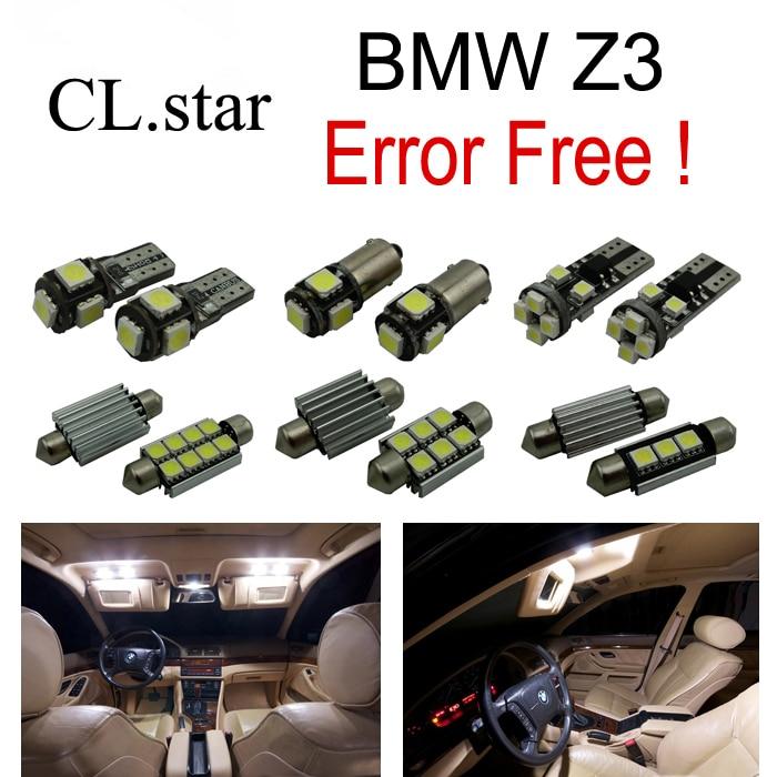 11pc X Error free for BMW Z3 E36 / 7 E36 / 8 LED Bulb Interior Light Kit Package (1996-2002) 2pcs 12v 31mm 36mm 39mm 41mm canbus led auto festoon light error free interior doom lamp car styling for volvo bmw audi benz