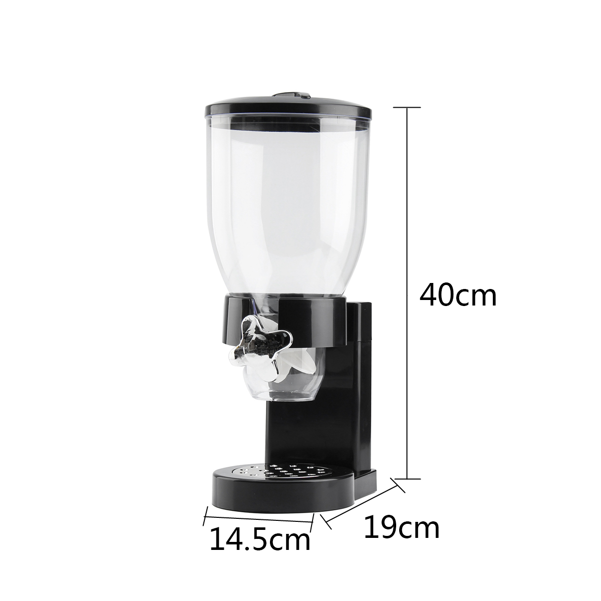 3.5L Single Cup Dry Food Cereal Nuts Dispenser Airtight Kitchen Storage Container Household Kitchen Machine Food Storge Bottles image