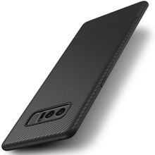 Note8 Case for Samsung Galaxy Note 8 Carbon Fiber Luxury thin Slim Back Soft Silicon Accessories