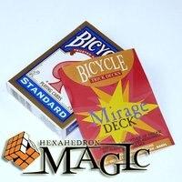Convés miragem Bicicleta/close-up CARTÃO mágico truque/atacado frete grátis como visto na tv
