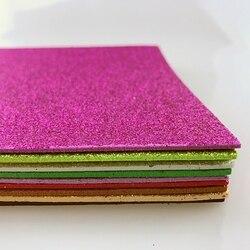 10Pcs/set Multicolor Sponge Glitters Foam Paper Fold Scrapbooking Paper Crafts Decor DIY Card Artwork Accessories 20*29.5cm*2mm