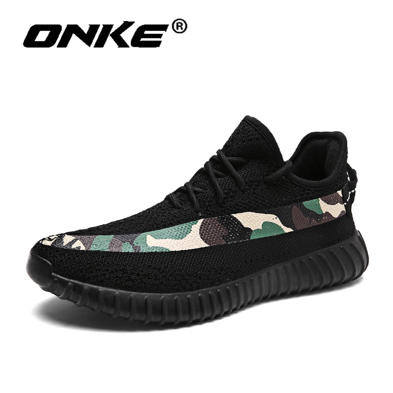Onke Breathable Running Shoes for Man Lightweight Sports Sneakers Comfortable Athletic Trainers Black Male Walking Zapatillas