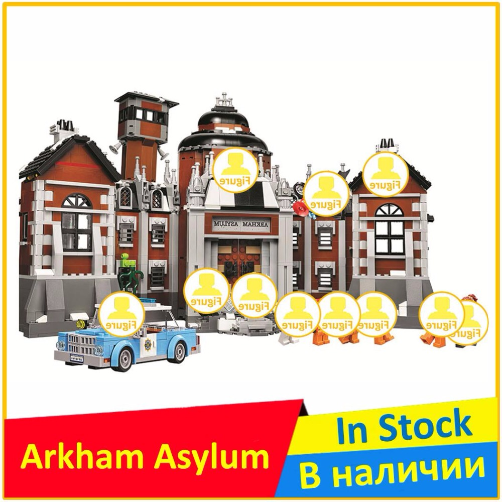 The Arkham Asylum 70912 Building Blocks Model Educational Toys For Children 10741 Compatible legoing with Super Heroes Figure new 1628pcs lepin 07055 genuine series batman movie arkham asylum building blocks bricks toys with 70912 puzzele gift for kids