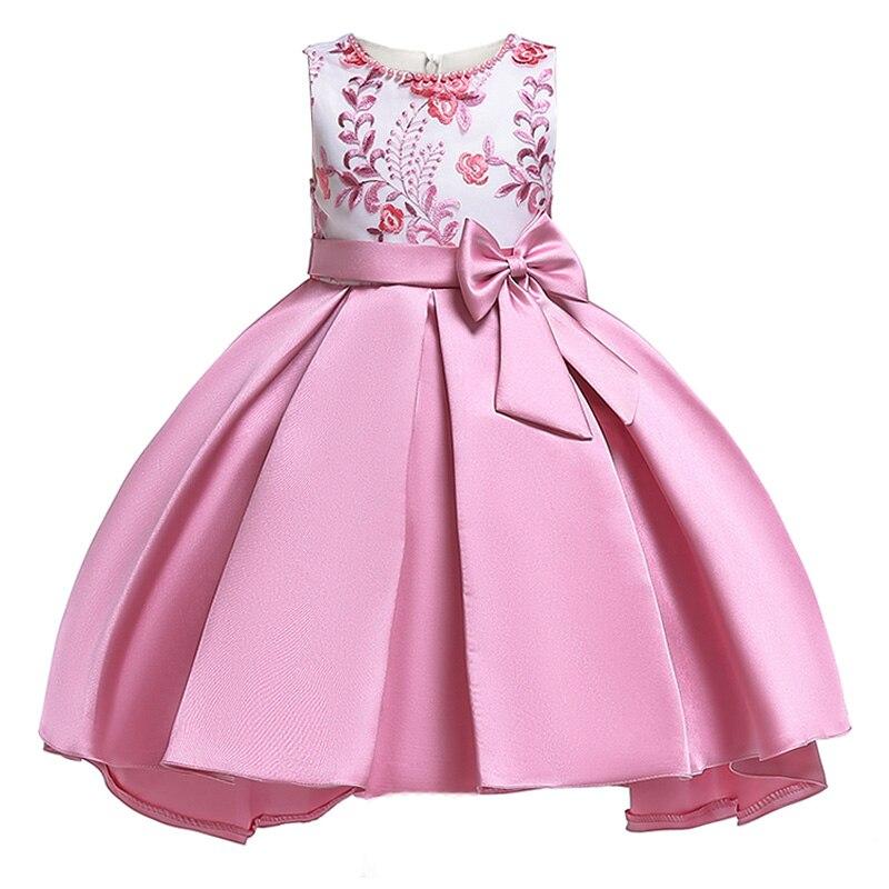 2019 NEW Beading   flower     girls     dress   kids elegent bow tutu   Dress   for baby princess party clothes children custumes   girls   clothing