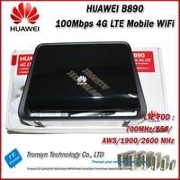 Оптовая продажа Оригинальных разблокировать 150 Мбит/с Huawei B890 4 г LTE Беспроводной точка шлюза с внешними Телевизионные антенны с USB, RJ11 и lan Пор...